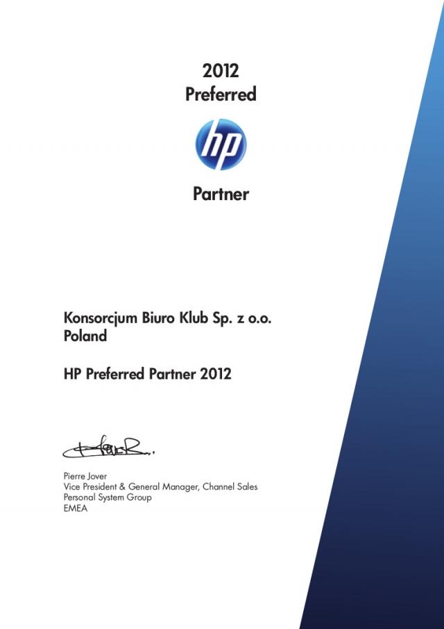 HP Partner 2012