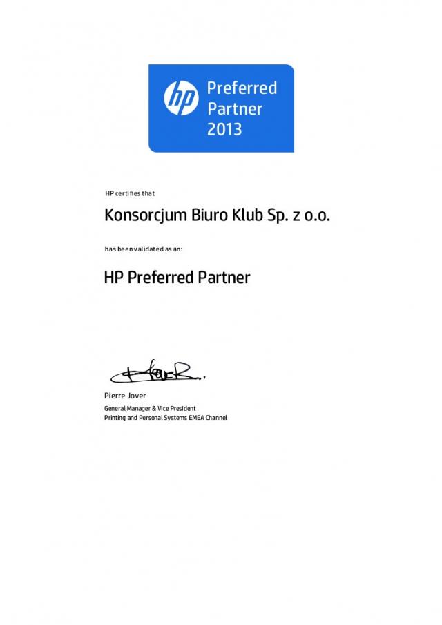 HP Partner 2013
